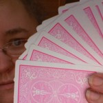 Lovely pink cards from Bicycle