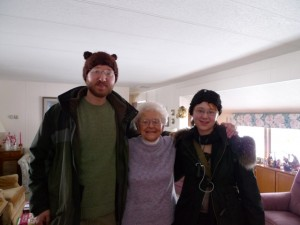 At 93, Miss Charlotte is not the least bit concerned that bears might devour her.