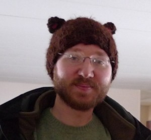Nothing scarier than a dad in a Fudgy Bear Hat.   He also plays banjo.